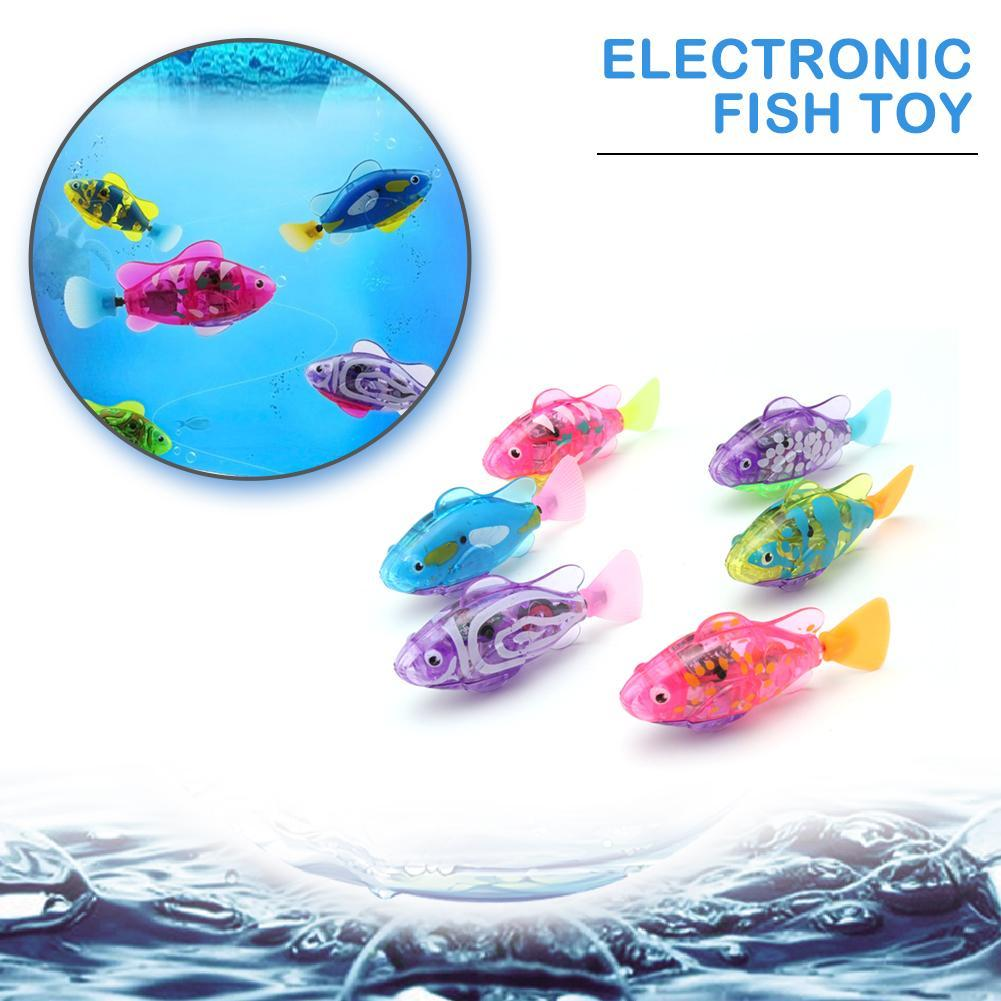 New Funny Swim Electronic Swimming Fish Battery Powered Toy Fish Pet For Fishing Tank Decorating Fish High Quality