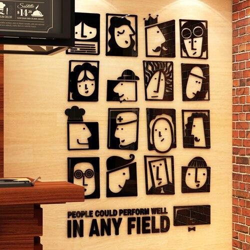 Bricolage Art 3D acrylique mur autocollant chambre salon décoration Stickers muraux papier peint JTZS74