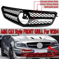 For AMG C63 Style New Car Front Upper Grille Grill For Mercedes For Benz C Class W204 C180 C200 C300 C350 2008 14 Racing Grille|Racing Grills| |  -
