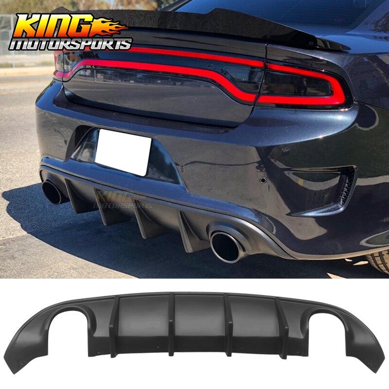 Convient à 2015-2019 Dodge Charger SRT OE Style diffuseur arrière lèvre pare-chocs non peint noir PP