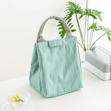 New Portable Thermal Insulation Lunch font b Bag b font Women Man Oxford Cloth Picnic Food