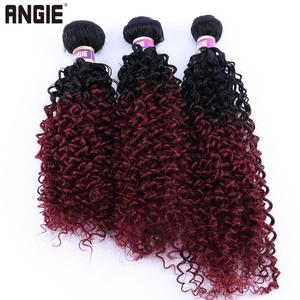 1 Bundle Kinky Curly Synthetic Hair Weave Bundles 16 18 20 Inches 70gram Ombre Color Two tone Curly Hair Bundles(China)