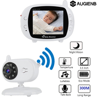 AUGIENB 3.5 inch WIFI Wireless Video Baby Monitor LCD Nanny Security IP Camera 300m Night Vision 2 Way Audio Talk