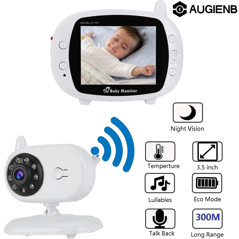 AUGIENB 3.5 pouces WIFI sans fil vidéo bébé moniteur LCD nounou sécurité IP caméra 300m Vision nocturne 2 voies Audio parler