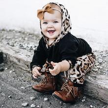 hot deal buy new fashion t-shirt baby suit children men and women baby leopard sweater winter warm jacket pants children leopard clothing