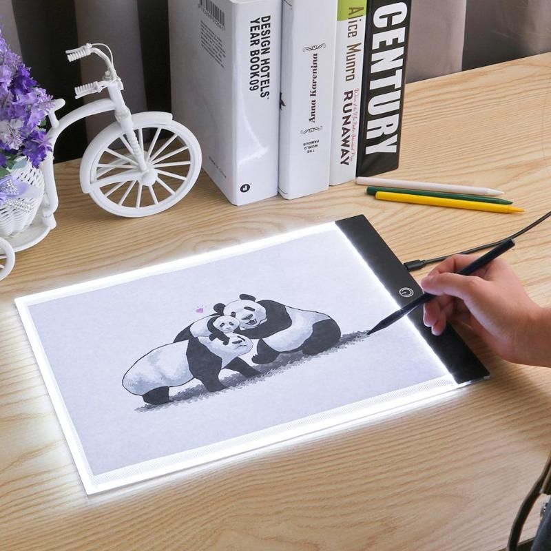 А4/А5 цифровой графический планшет для рисования, графический планшет, СВЕТОДИОДНАЯ световая коробка, коврик, Электронная USB Трассировка, ху...