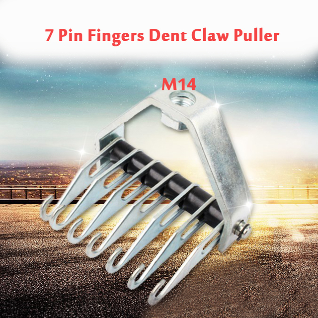 M14 Multi Claw Pull Hook 7 Pin Fingers Dent Claw Puller Repair Hook Automotive Shaping Tool