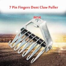 M14 çoklu pençe çekme kancası 7 Pin parmak Dent pençe çektirme tamir kanca otomotiv şekillendirme aracı