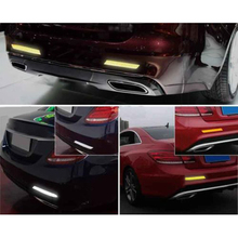 10pcs Car Bike High Visibility Reflective Waterproof Sticker Strip Safety Decorative Decals high quality PVC Material 6*3cm
