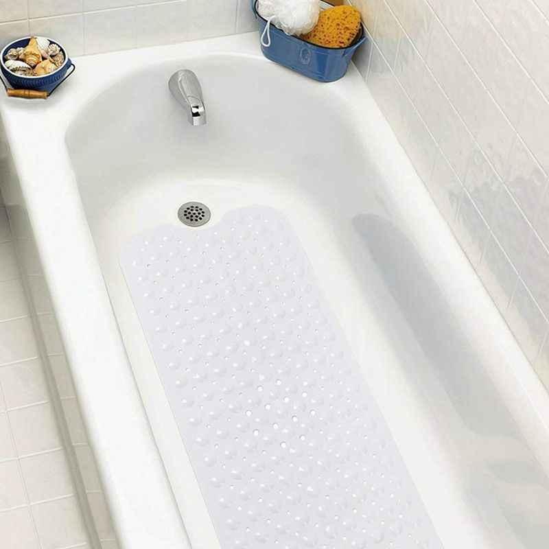 Коврик для ванной 100x40 см с чашкой Массажный Коврик для ванны белый нескользящий материал Экстра-длинная душевая коврик моющийся коврик для ванной комнаты в mach