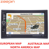7020G 7 inch TFT Touch Screen Car Audio Stereo MP5 Player 12V Auto Video Remote Control GPS Navigation Function With Free Map