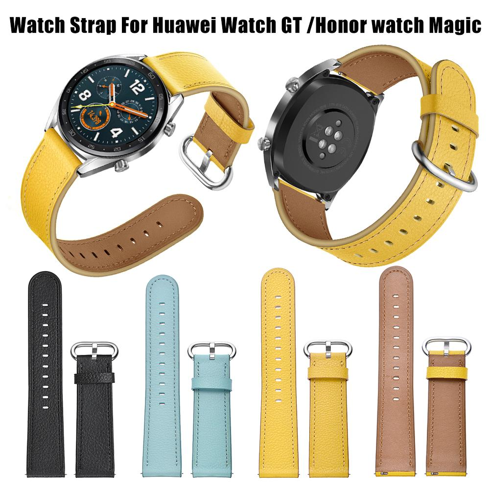 22mm Smart Replacement Wristband Genuine Soft Comfortable Sports Watch With Leather Watch Strap Magic Leather Strap Or Huawei Gt Home