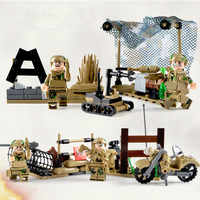 4 in 1 Special Forces MILITARY World War SWAT Army Weapon Soldier Marine Building Blocks Toy For Children Compatible With Lego