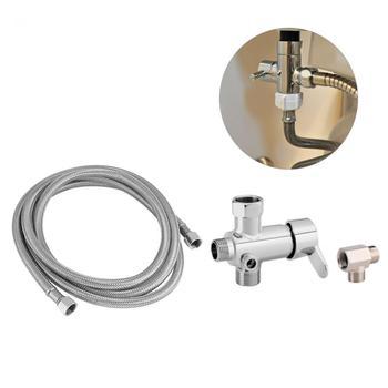1 Juego de accesorios de inodoro para el hogar, válvula desviadora de agua caliente/fría, adaptador en forma de T, Kit de manguera Flexible, herramienta al por mayor