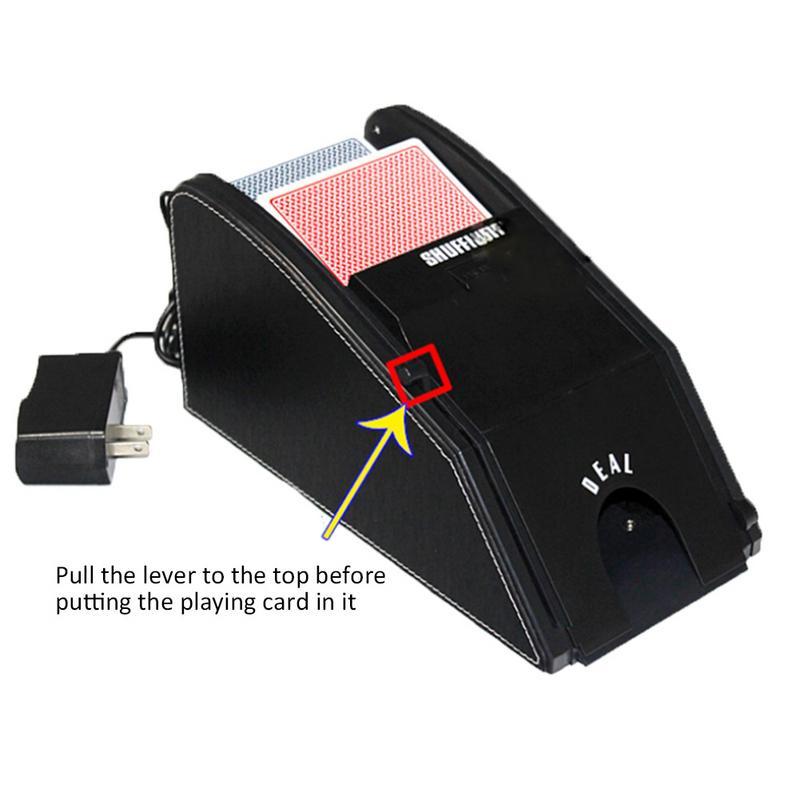 Cartes de Poker à piles automatique carte Shuffler électronique professionnel carte Shuffler 2 en 1 Shuffle Deal Machine - 3