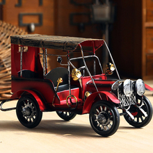 Alloy Retro Simulation Car Model Classic Antique Cars Collect Toys Boy Gift