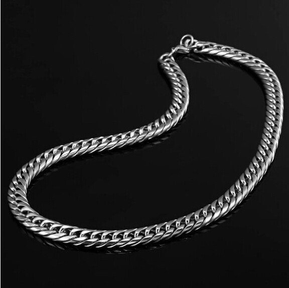 wholesale stainless steel men necklace curb cuban link chain gifts punk man mens hip hop long gold necklaces women accessories in Chain Necklaces from Jewelry Accessories