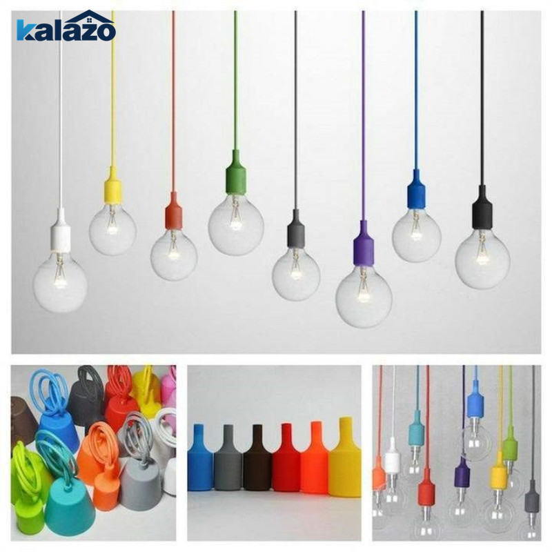 1pc Mini Colorful Modern Pendant Lamp Bar Restaurant Bedroom Hanging Bulb Light Home Living Room Decorations