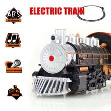 Classic Electric Train Passenger Simulation Carriage Kids Railway Track  DIY Stitching Educational  Toy Christmas Birthday Gift