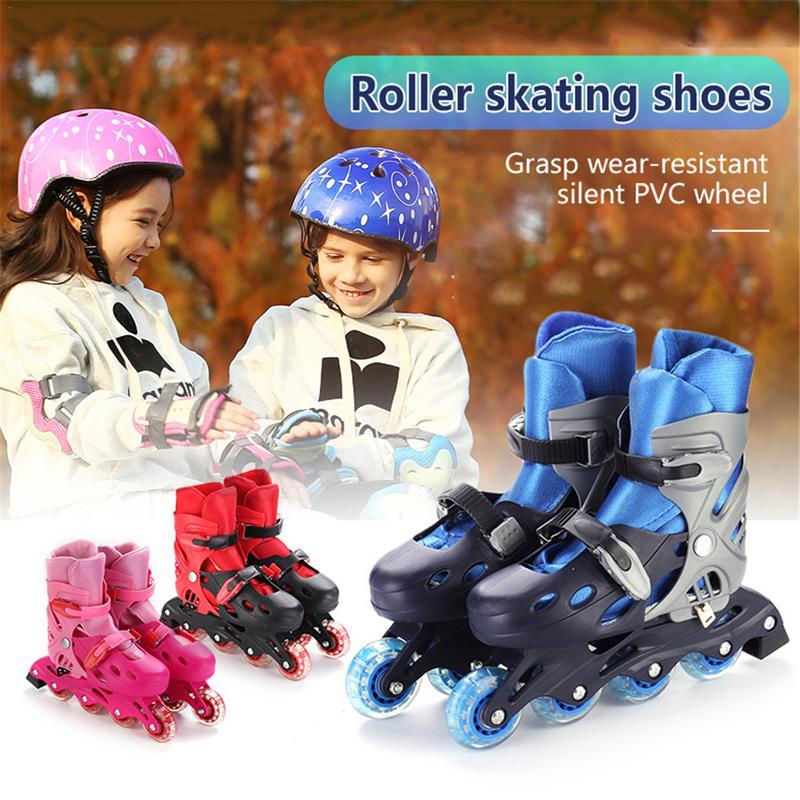 1 paire De qualité supérieure Chaussures À Roulettes Réglable patins en ligne Universel Pour Débutant Respirant Confortable patins à roulettes