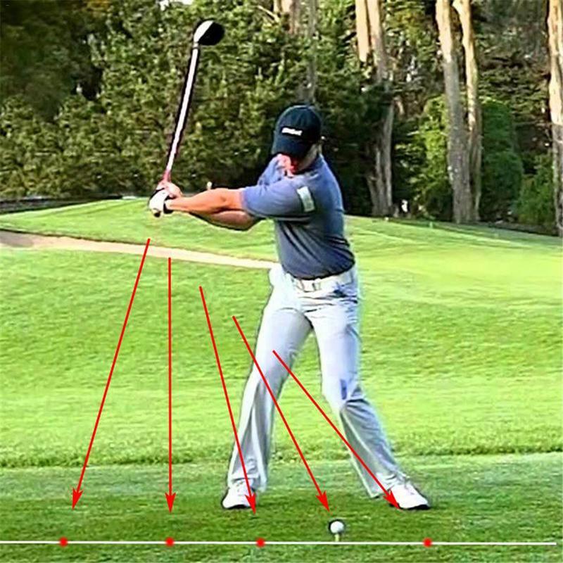 Golf Swing Corrector Laser Plane Trainer Golf Swing-Plane Training Aid Golf Pointer Laser Spot Direction