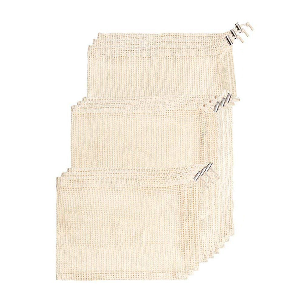 New Reusable Produce Bags  Natural Cotton Material Is Biodegradable  Machine Washable & Dryer Friendly  Double Stitched Seams |Laundry Bags| |  - title=