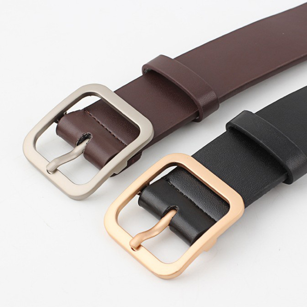 Women's Belts Collection Here 90-110cm Womens Fashion Leather Waist Belts With Silver/gold Square Pin Buckle Adjustable Soft Casual Trousers Jeans Waistbands