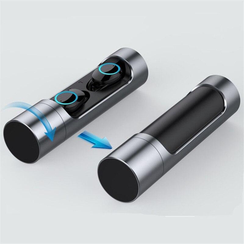 9647ffc069a081 Beste Koop TWS Draadloze Koptelefoon Bluetooth 5.0 Touch Control Waterdichte  IPX7 Met Mic Sport Zwemmen Stereo Geluiden Hoofdtelefoon Voor IPhone 6 s ...
