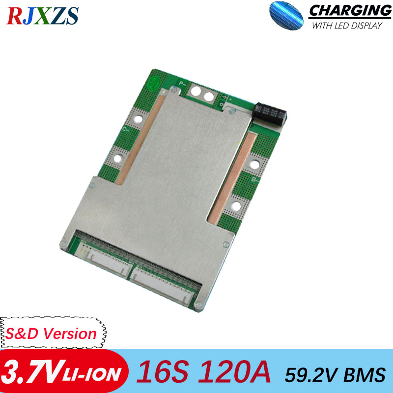 BMS 16S 80A 100A 120A li ion BMS PCM battery protection board bms pcm for electric