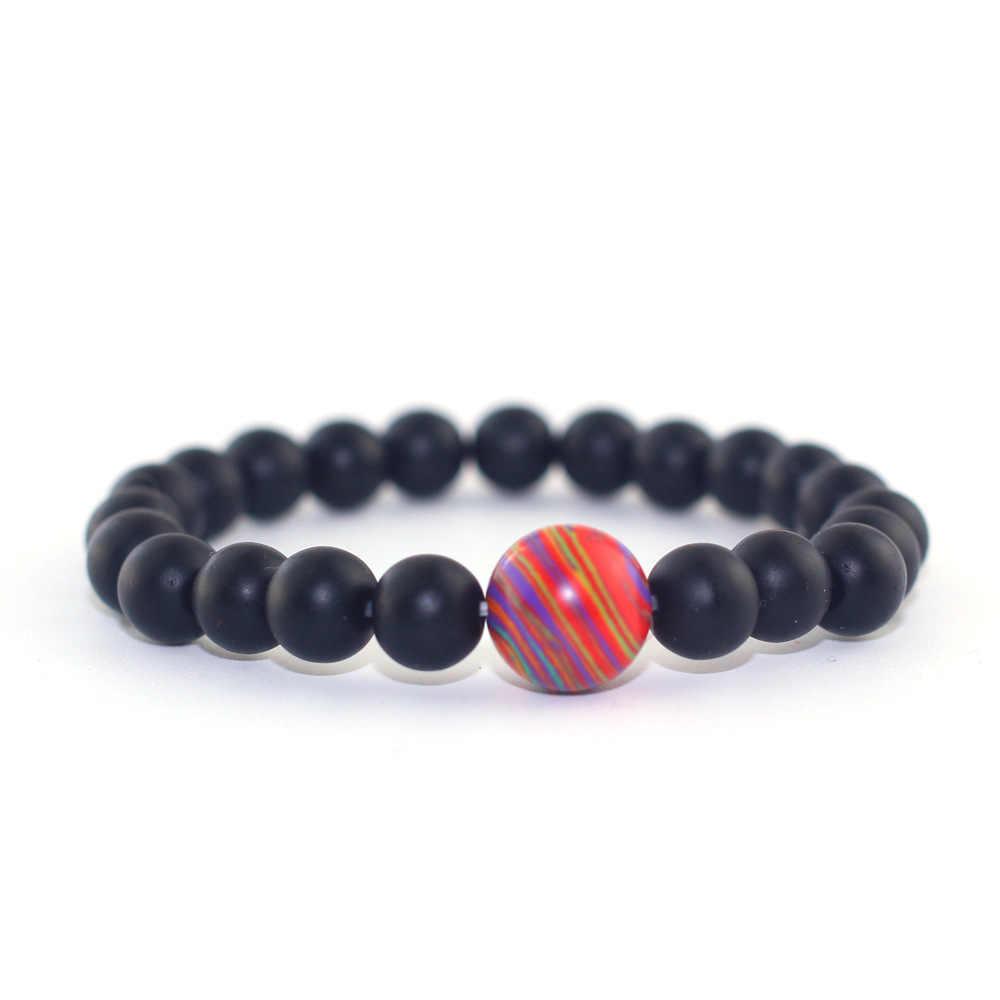 4 צבעים צמיד תכשיטי גברים נשים צמידי Boho מתנות טבעי אבנים חרוזים יוגה חרוזים אנרגיה מדיטציה 2018 חדש