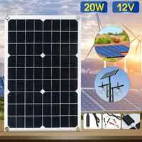 Лучшая цена 20 Вт 12 В Солнечная батарея с usb-разъемом монокристаллический панели солнечные с автомобиля зарядное устройство для Открытый Отд...