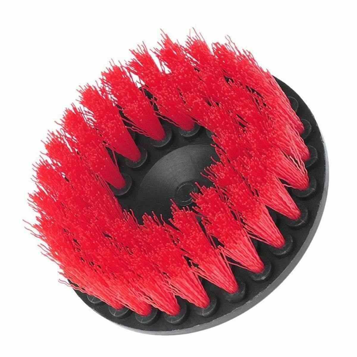 5 אינץ חשמלי תרגיל כוח לשפשף נקי מברשת ליטוש עבור עור פלסטיק עץ ריהוט פנים מכונית ניקוי כוח לשפשף
