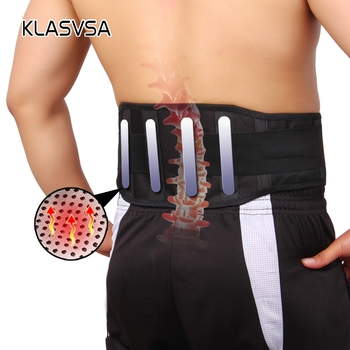 KLASVSA 1pcs Self-heating With 4 Plate Magnetic Tourmaline Belt For The Back Waist Ceinture Lumbar Support Brace Massager