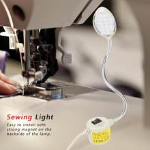 110V-240V 1W Sewing Machine Lamp LED Sewing Working Light Adjustable Magnetic Base Table Lamp Industrial Lamp For Sewing Machine(China)