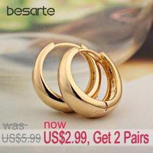 Получить 2 пары/золотые серьги кольца для женщин oorbel золотые