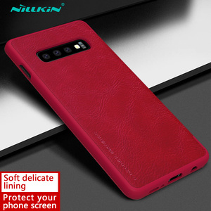 Image 4 - Кожаный чехол книжка Nillkin Qin для Samsung Galaxy S10 Plus S9 Plus Lite