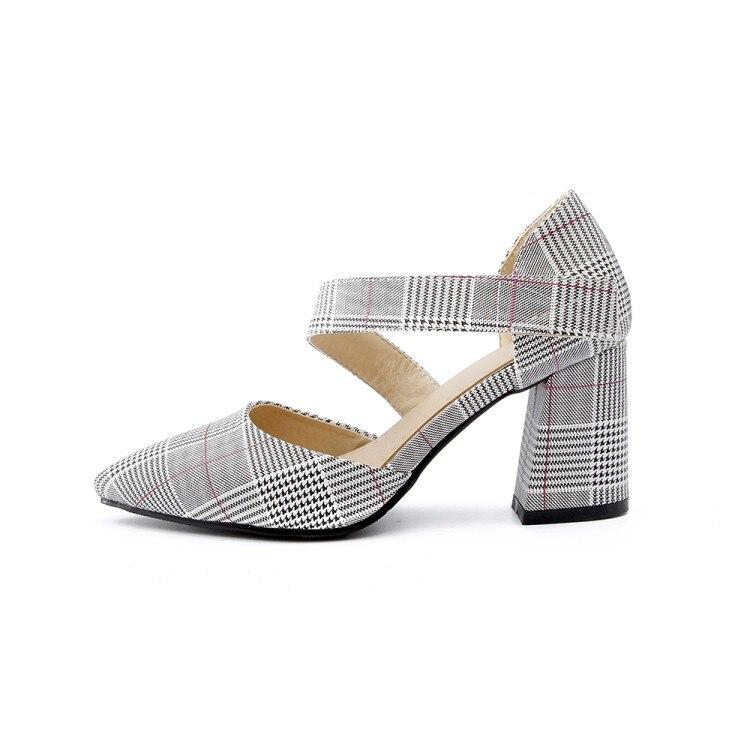 Xianyiduo/Новинка 2019 года; модные летние вечерние женские туфли; босоножки с закрытым острым носком на квадратном каблуке; пикантные туфли на за... - 2