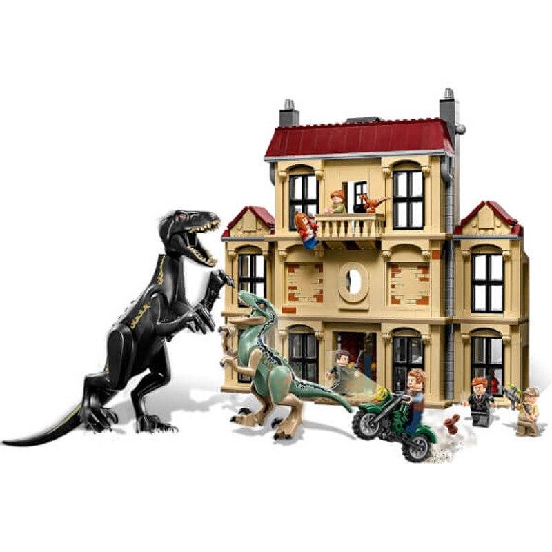 2018 legoing 75930 1046 pcs Monde Jurassique Dinosaure Indoraptor Saccage À Lockwood Immobilier Building Block Jouets Pour Enfants 10928