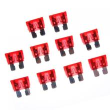 лучшая цена 20pcs 10A 32V Red Standard Blade Fuses Replacement For Auto Car Special Blade Fuses
