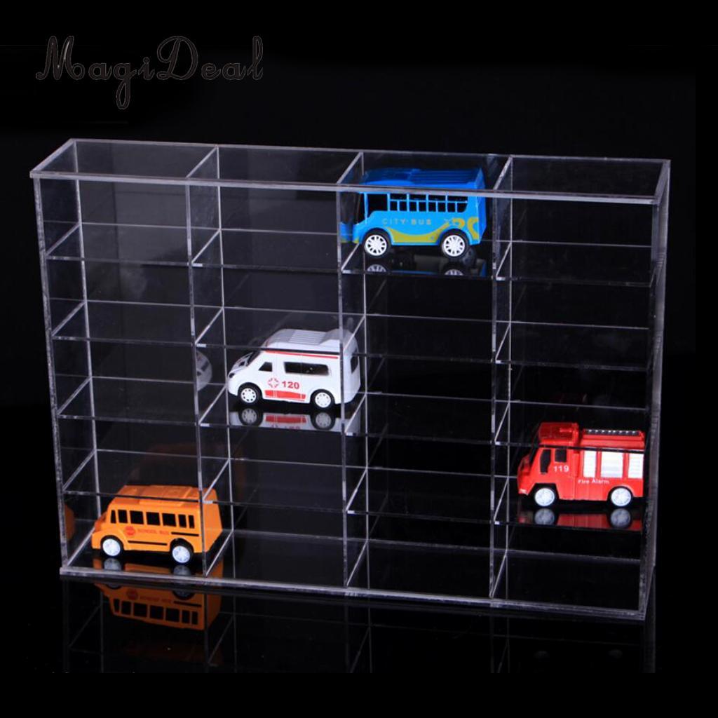 Transparent Acrylic Toy Car Model Storage Rack Diecast Display Case Shelf for 1:18 Car Model цена 2017