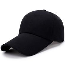Men Women Summer Autumn Solid Blank Baseball Caps Advertising Cotton Casual Hats Men's Hat Outdoor Sports Headwear Blue Black