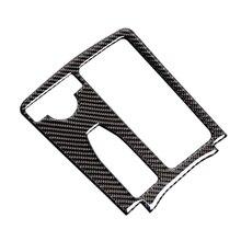 Para mercedes benz classe c w204 c200 c300 c180l e classe w212 centro de fibra carbono controle copo água painel capa lhd/rhd