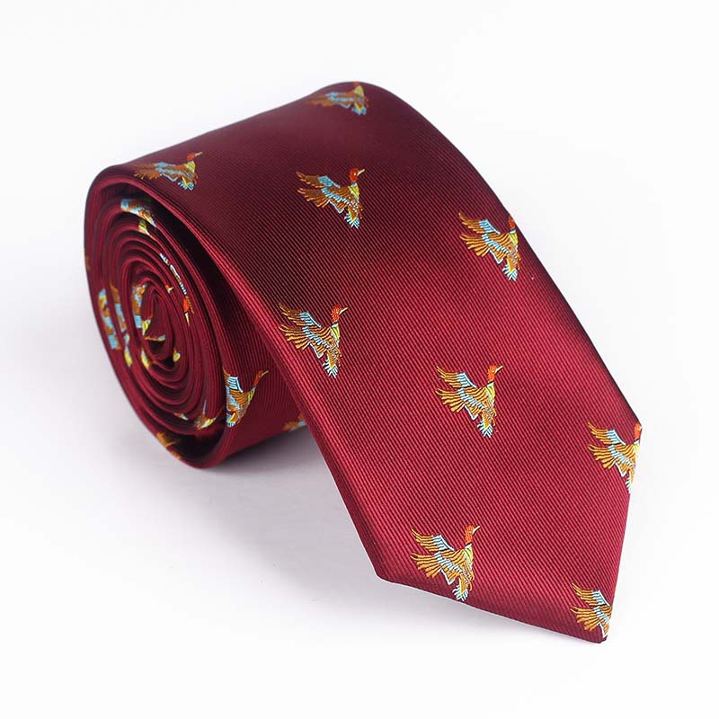 Mantieqingway Men's high-end temperament must-have yarn-dyed jacquard flower pattern multi-color casual party dress work tie