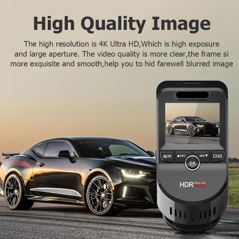 "Image 4 - VODOOL T691C Mini 2"" 4K 2160P/1080P FHD Car DVR Dash Cam Camera 170 Degree Lens Car Video Recorder WiFi GPS Night Vision Dashcam-in DVR/Dash Camera from Automobiles & Motorcycles"