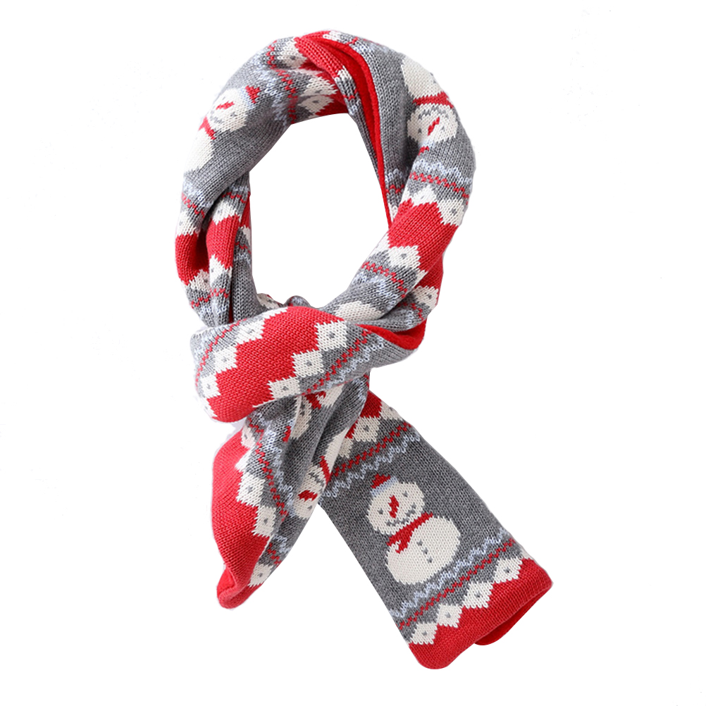 Generous Cute Christmas Snowman Kids Scarves Autumn Winter Neck Warmer Knitted Scarf Neckerchief For Boys Babies Children Girls Price Remains Stable Apparel Accessories Boy's Accessories