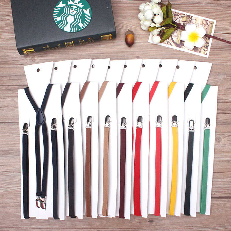 1cm/0.39inch Width X-back Creative Unisex Women's Skinny Suspender Slim Handmade Brace Cutie Creative Slim Thin Body