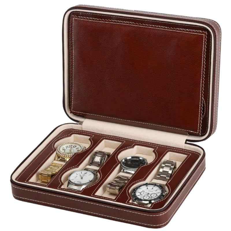 114c46ed4 Detail Feedback Questions about 8 Grids PU Leather Watch Box Watch Organizer  Storage Watches Display Case Tray Zippere Travel Jewelry Watch Box jewelry  box ...