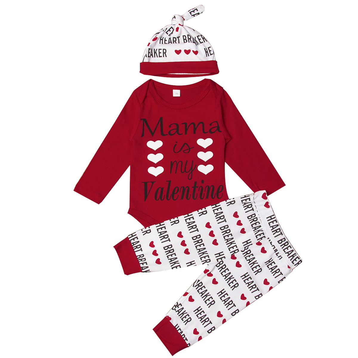 Baby Boys Clothing Sets,3PCS Newborn Boys Long Sleeve Letter T-Shirt Tops+Red Buffalo Plaid Pants+Hat Outfits Clothes for 1st Birthday