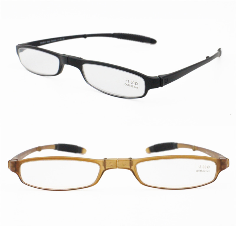 Fashion Rectro Small Size Flat Reading Glasses Little Rectangle Shape  Real TR90 Durable Foldable Reader Eyeglasses