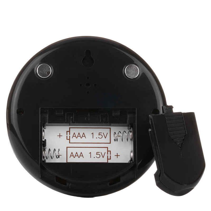 Mini Digital LCD interior cómodo Sensor de temperatura medidor de humedad termómetro higrómetro manómetro estación meteorológica Reloj de pared
